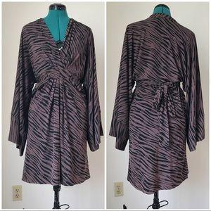 Brown and black leopard comfy dress sz M